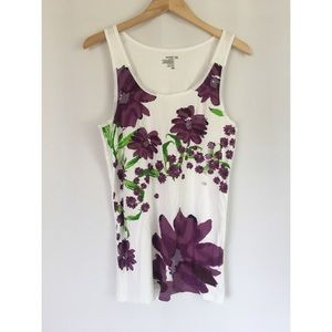 Old Navy Floral Ribbed Tank - XXL